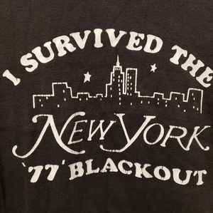 Other - New York City Vintage 1977 Blackout Small T-Shirt